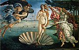 Famous Venus Paintings - The Birth of Venus
